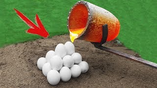 Experiment: Lava Vs Eggs!