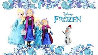 Обзор мягкие куклы Анна и Эльза