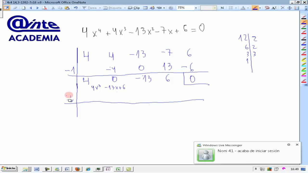 Ecuaciones de cuarto grado Matemáticas 4º ESO B AINTE - YouTube