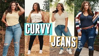 How to Style JEANS on a CURVY Body! Sierra Schultzzie!