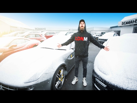 Idiots Go Supercar Shopping - F12 In The Snow VLOG!