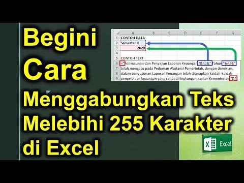 Cara Menggabungkan Teks Melebihi 255 Karakter | Blog Tutorial Excel