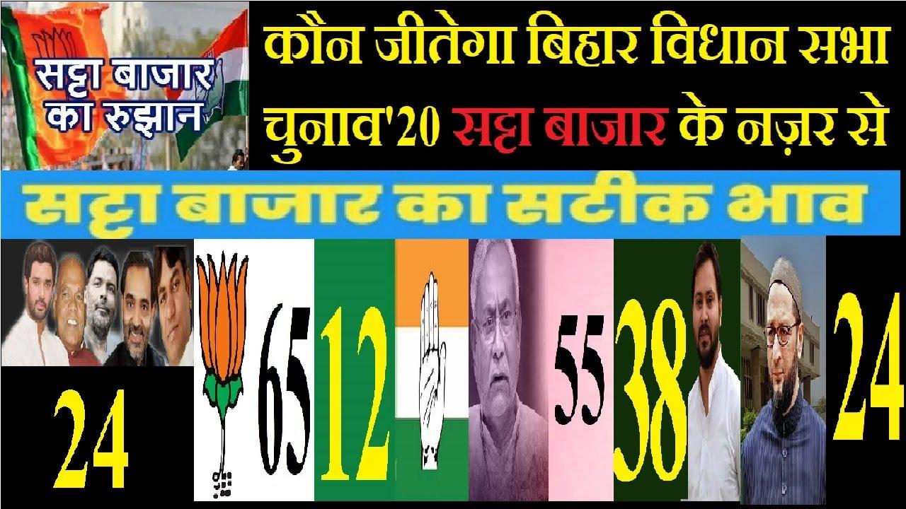 कौन जीतेगा बिहार विधान सभा  चुनाव 2020 सट्टा बाजार के नज़र से, BJP-JDU हार सकती है