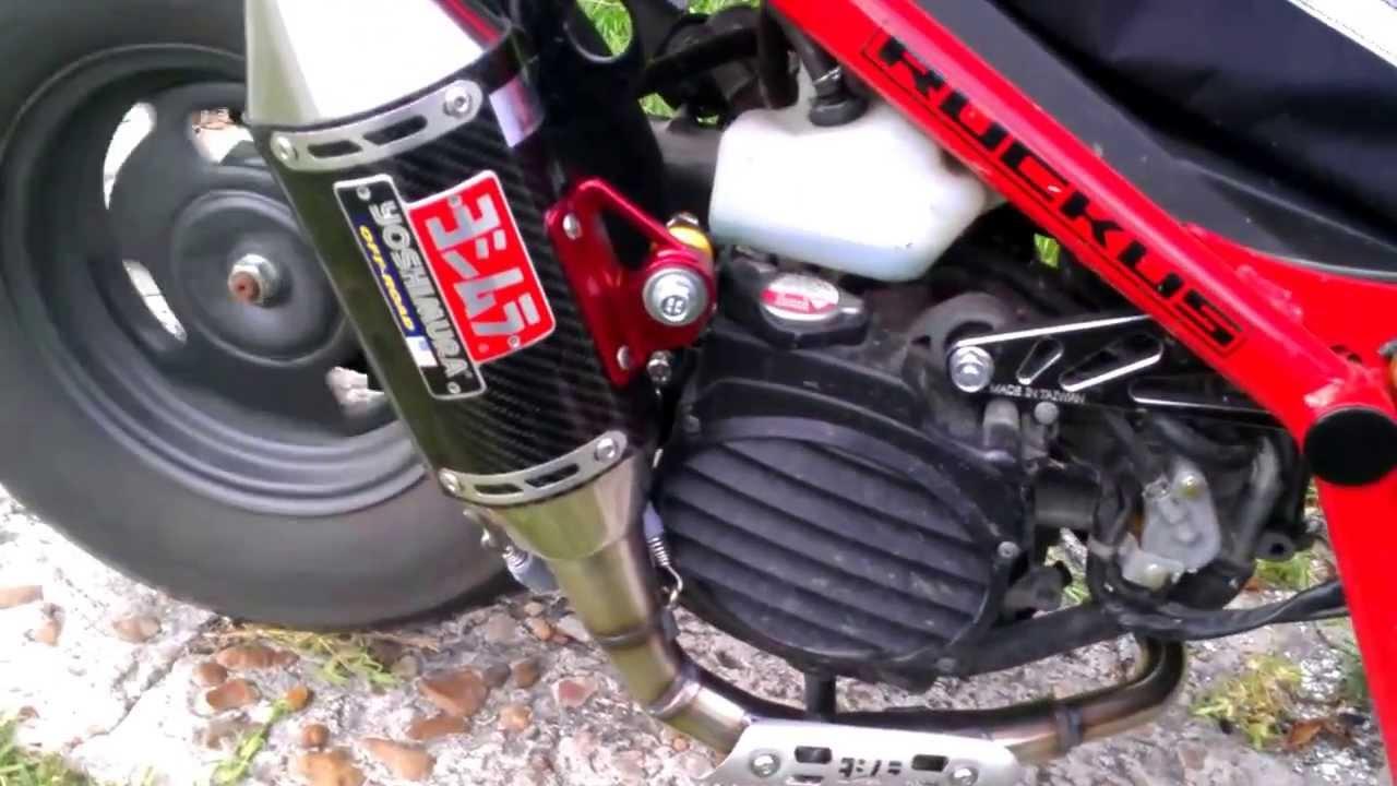 Yoshimura Exhaust - Honda Ruckus - 49cc GET - YouTube