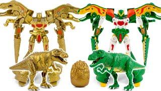 DinoTrainer Cretaceous Time Season2 Gold Tyrannosaurus Gold Egg Transformation