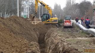 Капитальный ремонт водовода по ул Калинина г.Красноперекопска. Крым