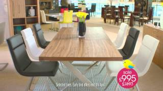 Furniture Village Spring Sale 2015 - Early Bird Offers End Easter Monday