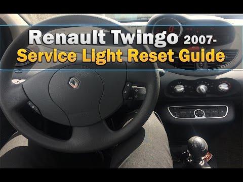 renault twingo 2007 service light reset youtube. Black Bedroom Furniture Sets. Home Design Ideas