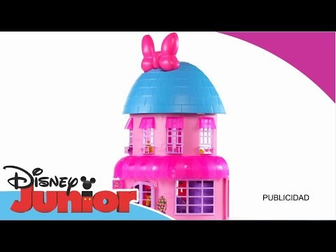 Disney junior unboxing casa de minnie youtube for Oficinas disney madrid