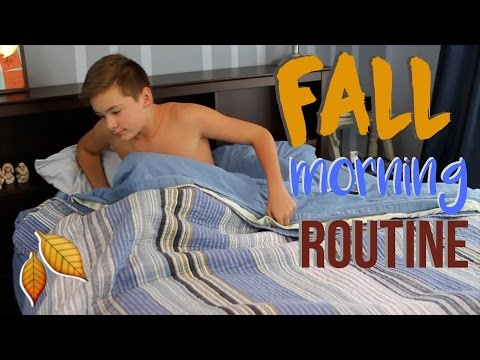 Guys Fall Morning Routine // School Morning Routine for High School 2016!