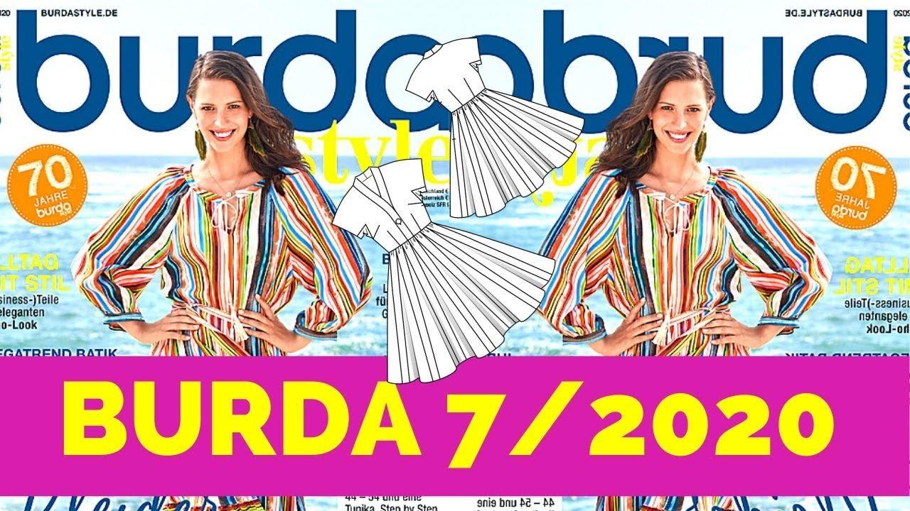 Burda 7/2020 Magazine Browsethrough + Line Drawings