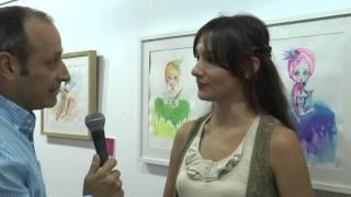 Entrevista a Gloria Arroyo y exposición en la Taberna el Chusco.