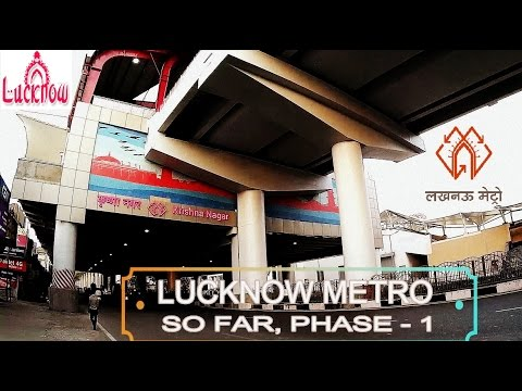 LUCKNOW METRO SO FAR | PHASE-1 CHARBAGH TO AMAUSI thumbnail