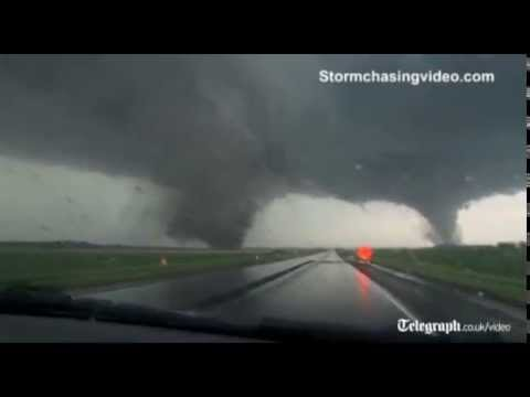Deadly twin tornadoes rip through Nebraska town