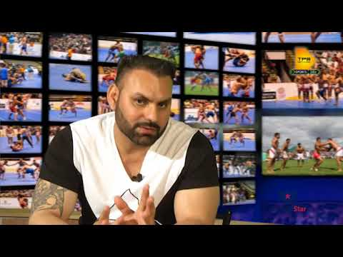 Kabaddi Superstar Lakha Gazipur with Lucky Kurali on Kabaddi Star TV Show