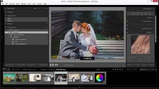 Обработка свадебной фотографии в лайтрум