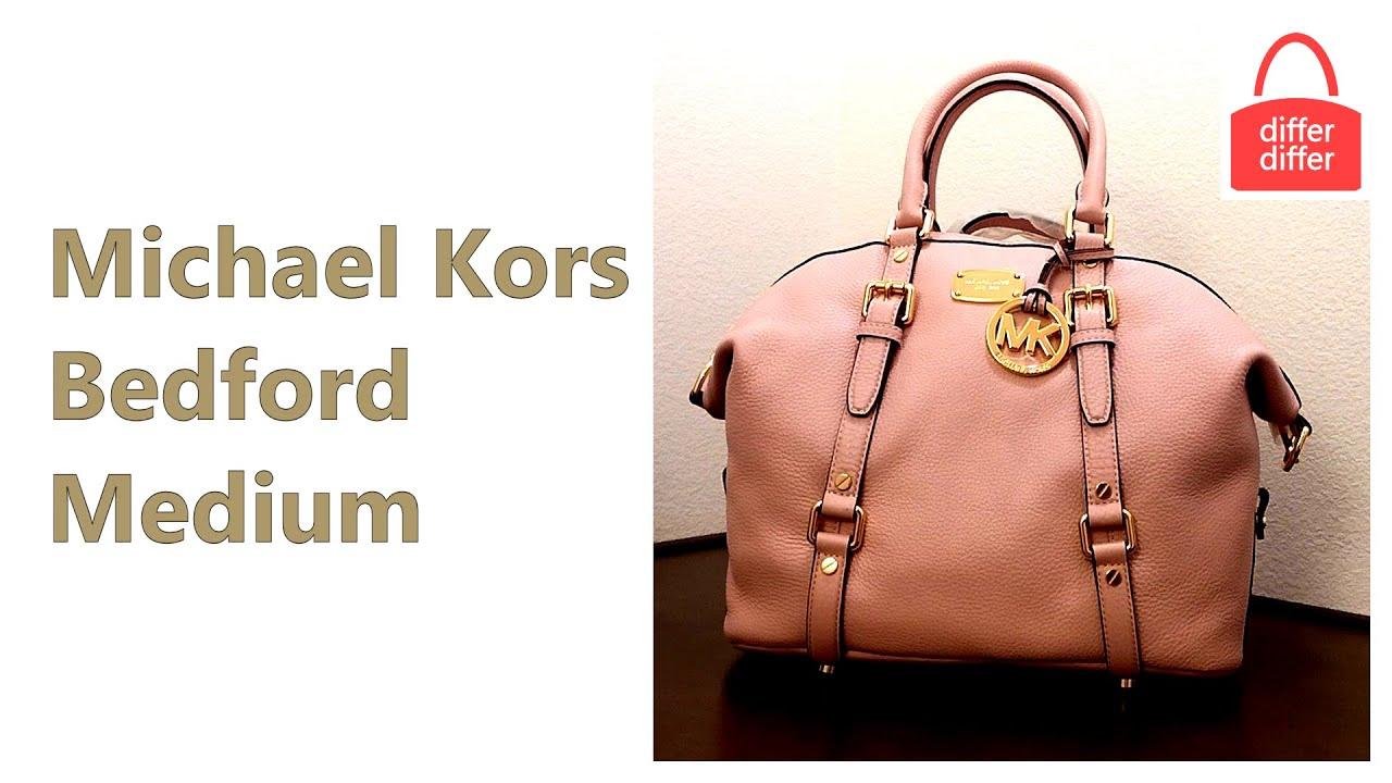 Michael Kors Bedford Medium Leather Satchel 35h2gbfs2l