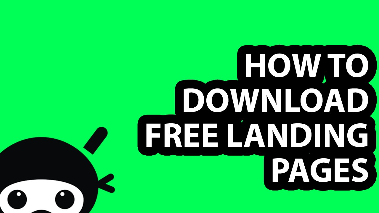 How to Download FREE Landing Pages - YouTube