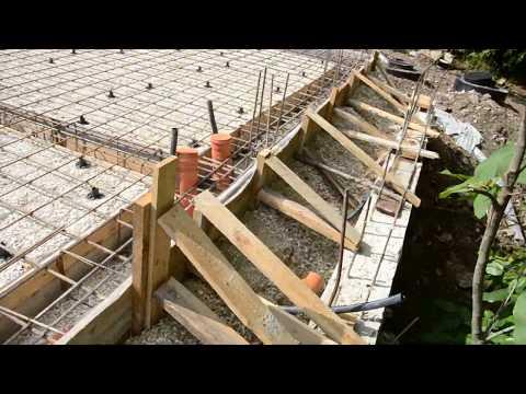 Фундамент плита на склоне в Сочи
