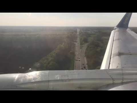 Ukraine International Airlines UIA Boeing 737-500 landing at Kiev Int. Airport