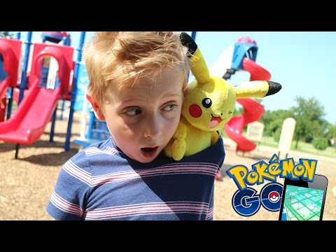 Thumbnail: Pokemon Go in Real Life + Hunting Pokemon Toys Game by KID CITY