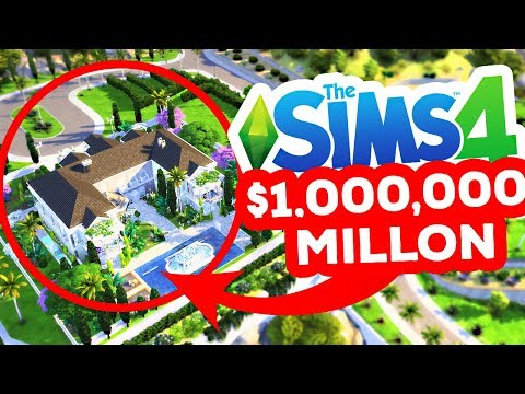 ONE MILLION DOLLAR BUILD CHALLENGE! - The Sims 4 thumbnail