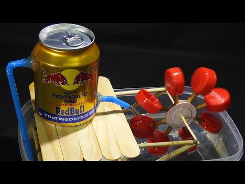 DIY Waterwheel Relaxation Without Motor