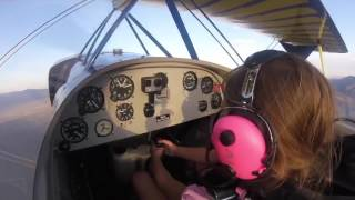 Girl Pilots Plane With Father