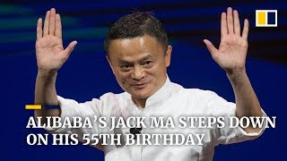 Read the full story: https://sc.mp/8vcx1jack ma, co-founder of alibaba, stepped down from his role as company executive chairman on september 10, 2019, d...