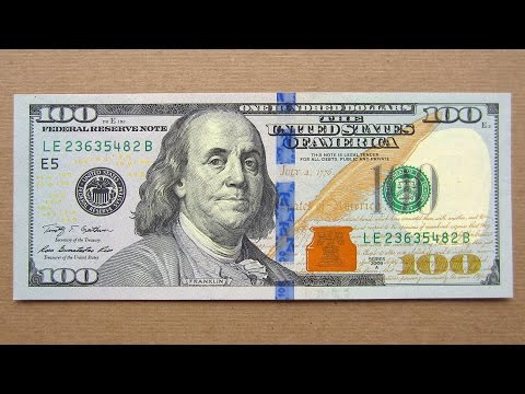 New 100 US Dollars Banknote (Hundred Dollars USA / 2009A) Obverse and Reverse