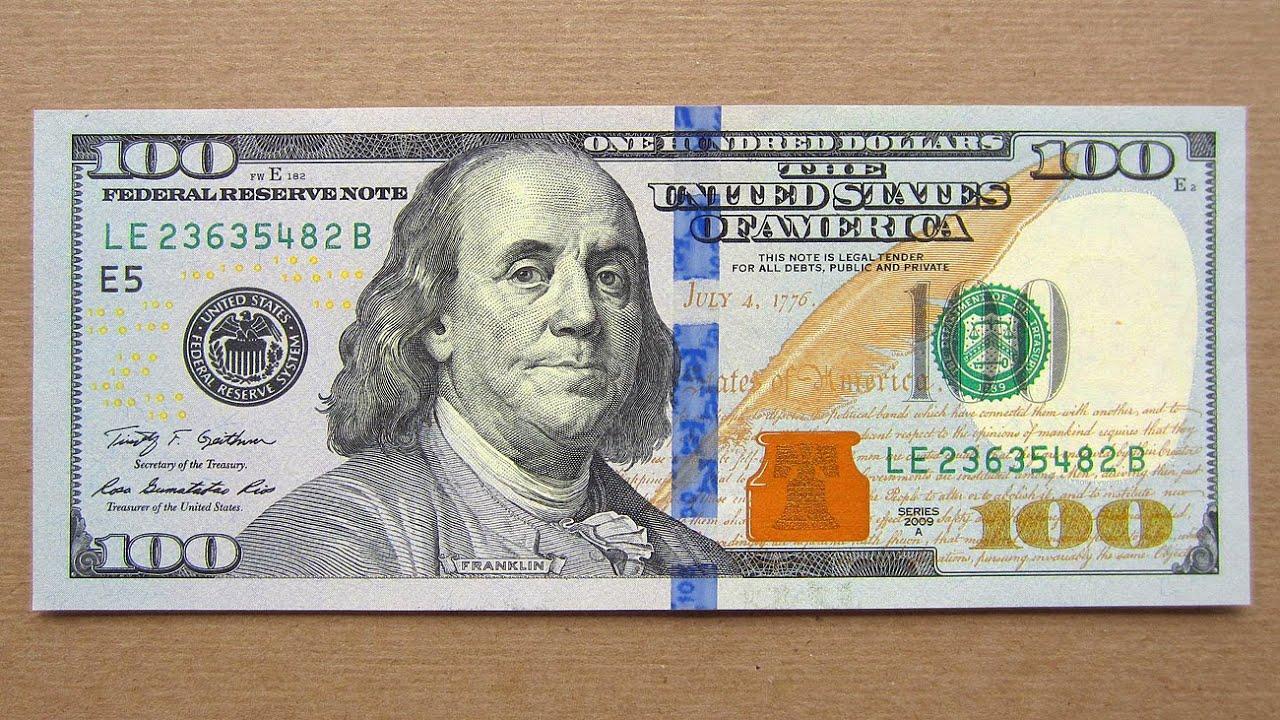 New 100 Us Dollars Banknote (hundred Dollars Usa  2009a