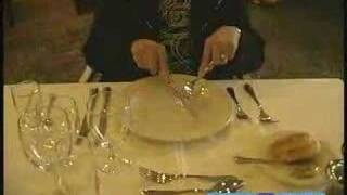 Dinner Etiquette & Proper Table Manners : Proper Etiquette For Using A Knife American Style