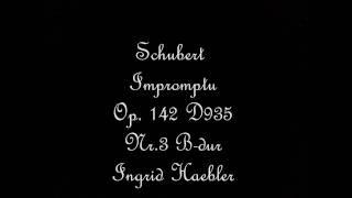 Schubert Impromptu Op.142 D935 Nr.3 B-dur,Ingrid Haebler
