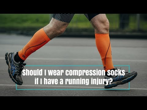 Should I wear compression socks if I have a running injury?