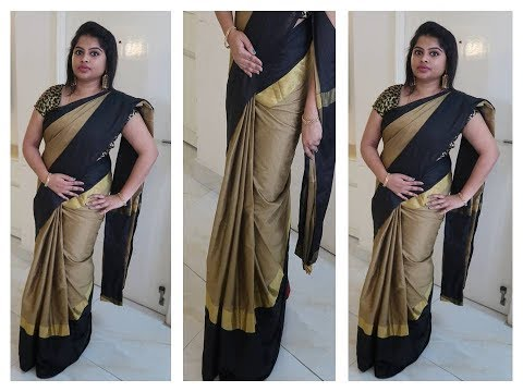 HOW TO DRAPE A SAREE TO LOOK SLIM - BEST AND EASY METHOD - STEP BY STEP PROCEDURE