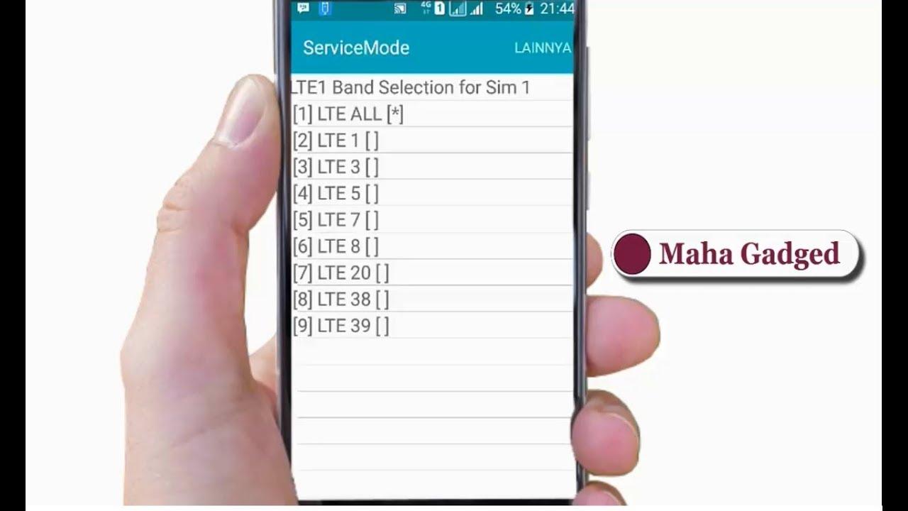 Cara Kunci Sinyal 4g Lte Samsung Dengan Kode Rahasia Youtube