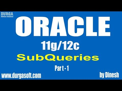 Oracle SubQueries Part - 1 by Dinesh