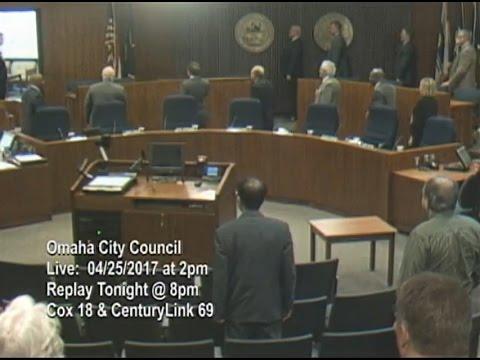 Omaha Nebraska City Council Meeting, April 25, 2017