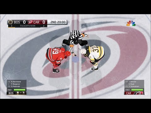 NHL 18 - Carolina Hurricanes vs Boston Bruins - Gameplay (HD) [1080p60FPS]