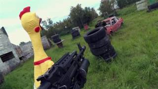 Курица убийца вояка!!!Жесть, стрельба, убийство, расстрел, война ...