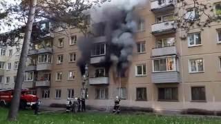 Пожар на ул.Курчатова 24 г. Железногорск 23 Июня 2016 год.