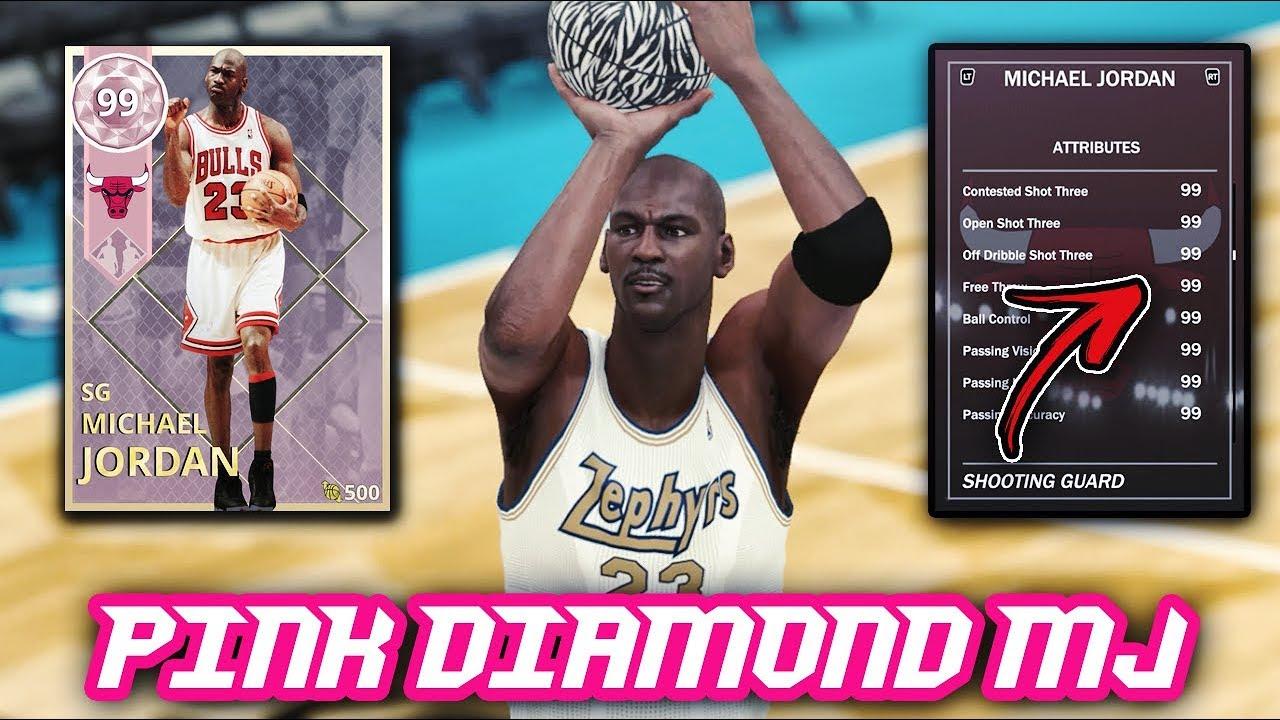 9991a383b4e NBA 2K18 PINK DIAMOND MICHAEL JORDAN WITH 99 IN EVERY SINGLE STAT!! | NBA  2K18 MyTEAM GAMEPLAY