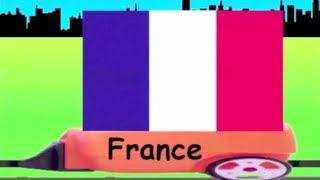 Learn Flag Train 4 - learning national flags of countries for kids