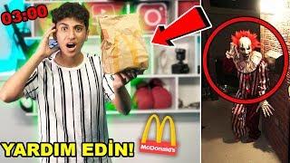 GECE 3 'DE MCDONALDS'DAN SİPARİŞ VERMEYİN !! *Ronald McDonald Evime Geldi*