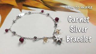 Handmade Jewelry | Garnet Bracelet | January birthstone | DI…