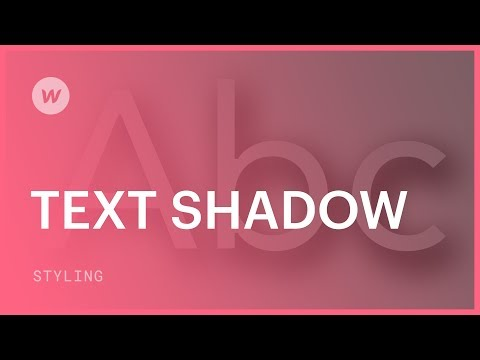 Text Shadow - Webflow CSS Tutorial (using The Old UI)