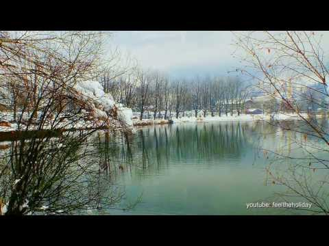 зимнее утро Romantic Zell am See Austria Winter morning is beautiful Der Winter Morgen