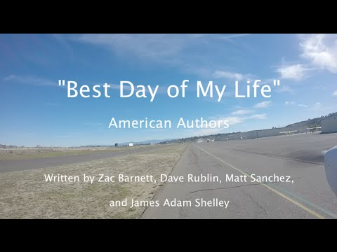 """Best Day of My Life""  American Authors Lyric  Flight KOKB to Catalina Island KAVX Airport"