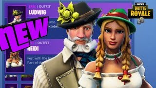 *New* LUDWIG & HEIDI SKINS + SEASON 6 BATTLE PASS UNLOCK + BATTLE PASS GIVEAWAY FORTNITE