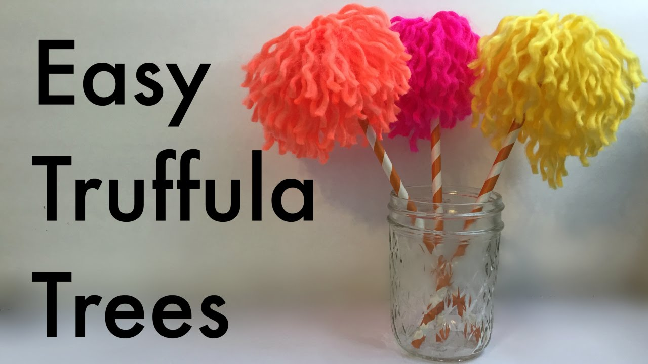 Dr Seuss Crafts Make Easy Truffula Trees From The Lorax